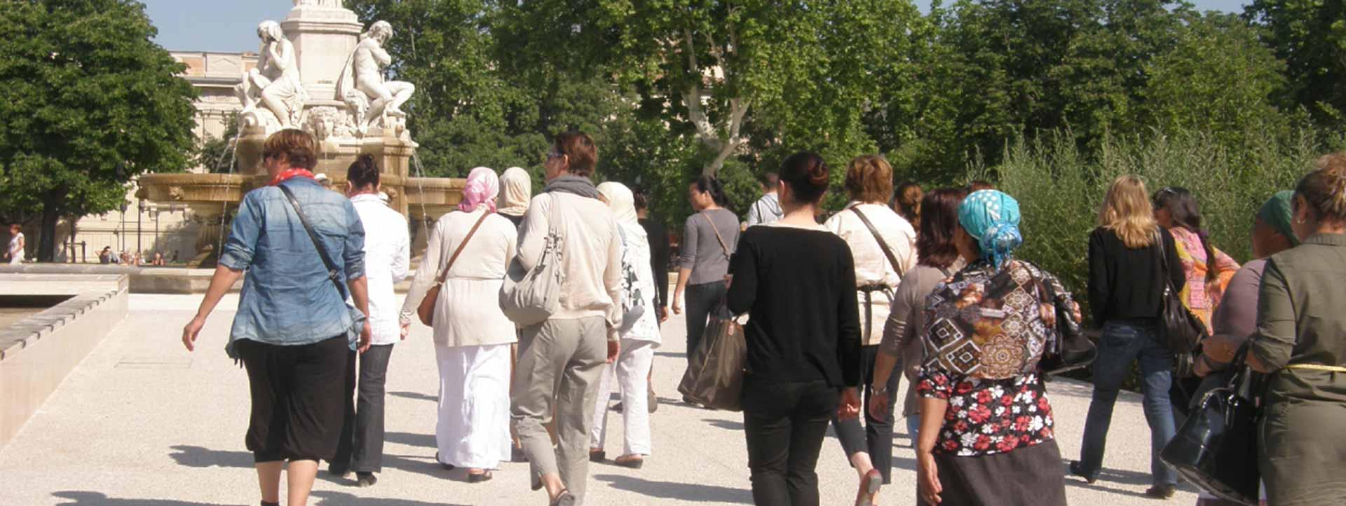 L'esplanade à Nimes - Association Quartier Libre
