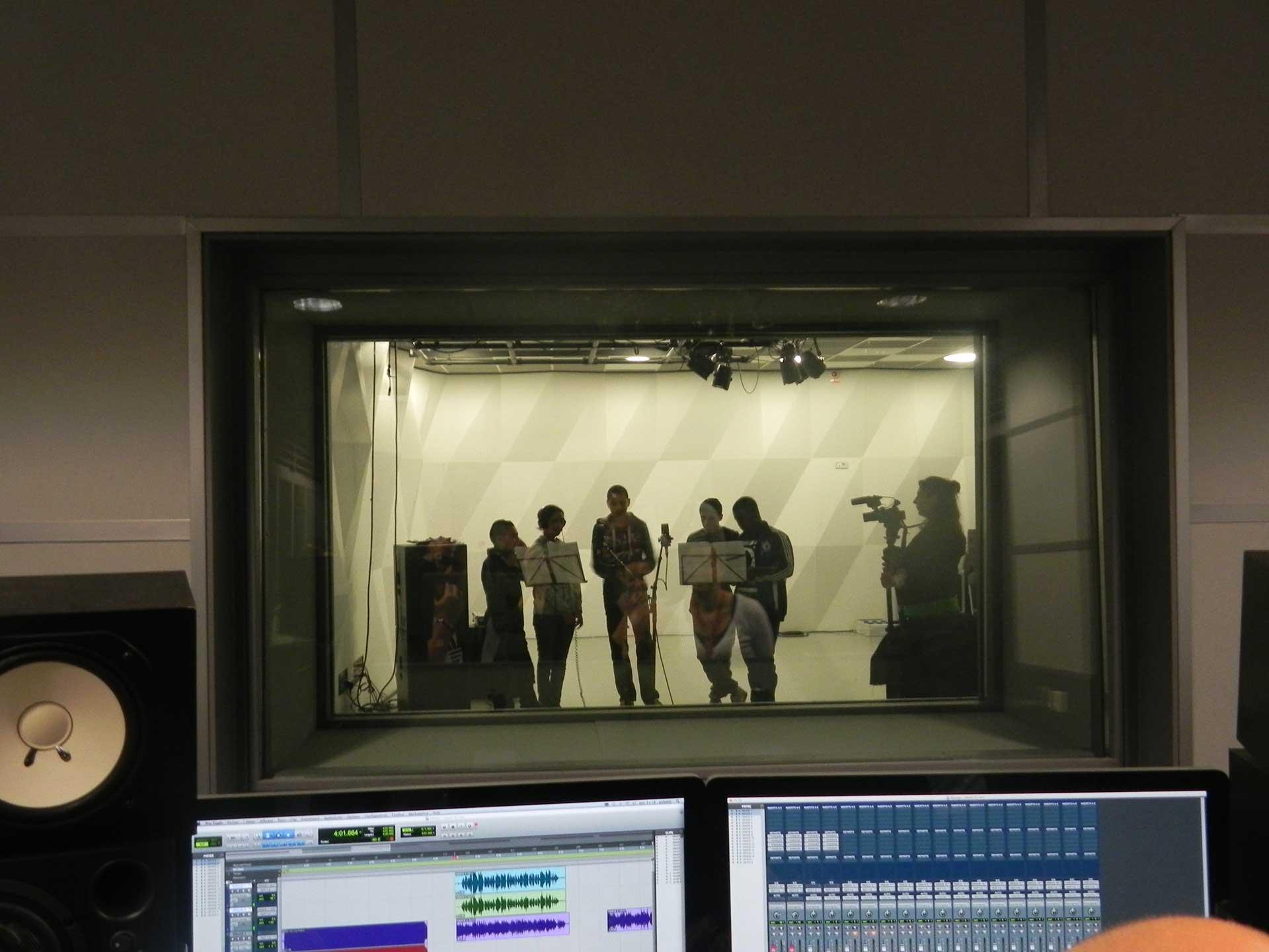 Session d'enregistrement studio